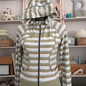 Lululemon Remix Light striped scuba hoodie/jacket